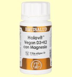 Holovit Vegan D3 y K2 Magnesio - Equisalud - 50 cápsulas