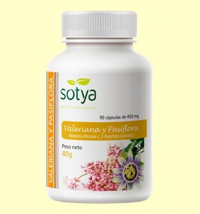 Pasiflora y Valeriana 450 mg - Sotya - 90 cápsulas