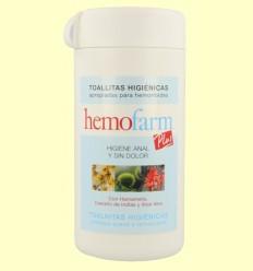Toallitas higiénicas hemorroides - Hemofarm Plus - 60 toallitas