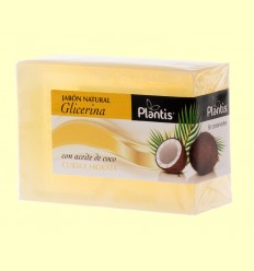 Jabón Natural Glicerina Coco - Plantis - 100 gramos