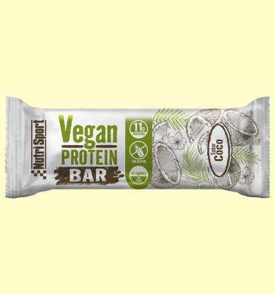Vegan Protein Bar sabor Coco - NutriSport - 12 barritas