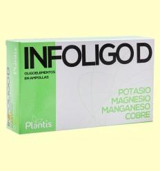Infoligo D - Oligoelementos - Plantis - 20 ampollas