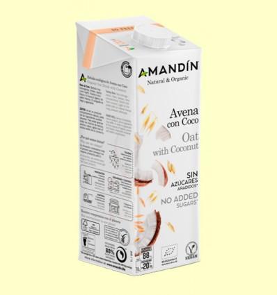 Bebida de Avena con Coco Bio - Amandin - 1 litro
