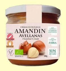 Crema Ecológica de Avellanas - Amandin - 330 gramos