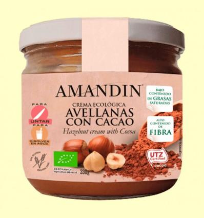 Crema Ecológica de Avellanas y Cacao - Amandin - 330 gramos