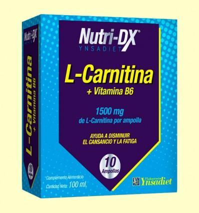 L-Carnitina 1500 mg Nutri-Dx - Ynsadiet - 10 ampollas