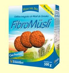 FibroMüsli - Galletas Integrales de Muesli de Cereales con Cacao - Hijas del Sol - 500 gramos