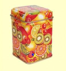 Lata para guardar 25 gramos de Té - Tonos naranjas