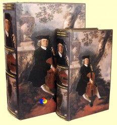 Conjunto dos cajas madera forma libro - Signes Grimalt