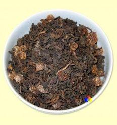 Té Negro Pu-Erh aromatizado Melón - El Mundo del Té - 100 gramos