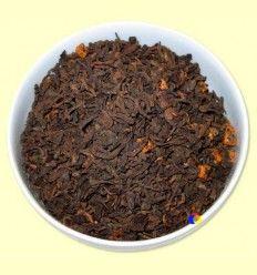 Té Negro Pu-Erh aromatizado Caramelo - El Mundo del Té - 100 gramos