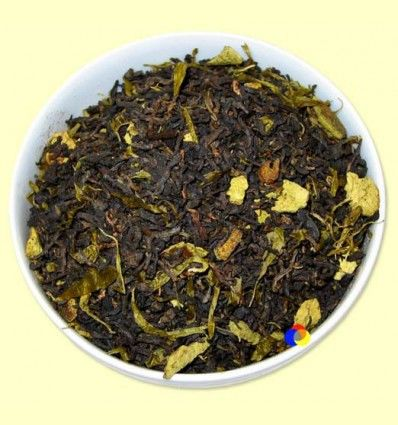Té Negro Pu-Erh aromatizado Pomelo-Naranja - El Mundo del Té - 100 gramos