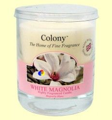 Vela de Cera Perfumada para el hogar - Aroma Magnolia Blanca - Colony