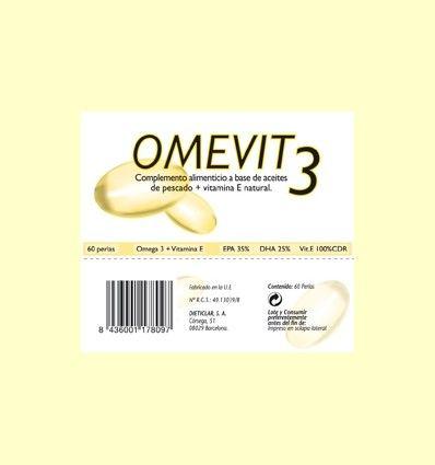Omevit – 60% de Omega-3 + Vitamina E - Dieticlar - 60 perlas