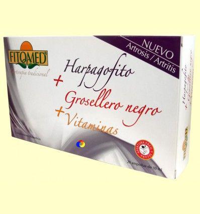 Fitomed Harpagofito + grosellero negro + vitaminas - Dieticlar – 20 ampollas