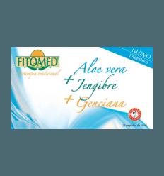 Fitomed D - Aloe Vera + Jengibre + Genciana - Dieticlar - 20 ampollas *