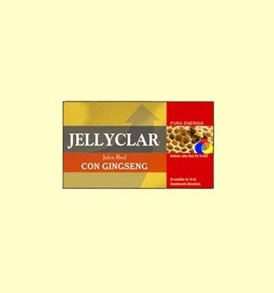 Jalea Real con Ginseng Jellyclar - Jalea Real 2% 10 HDA - Dieticlar - 20 ampollas