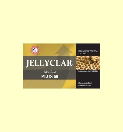 Jalea Real Plus 50 Jellyclar - Jalea Real 2% 10 HDA - Dieticlar - 20 ampollas