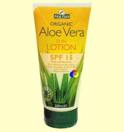Loción Solar Aloe Vera Eco FPS 15 - Evicro Madal Bal - 200 ml