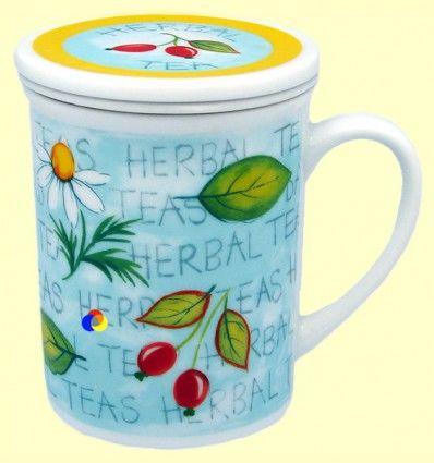 Taza para infusiones con filtro - Gallery by Inhesion - Herbal Tea Cerezas