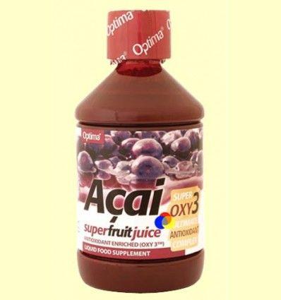 Zumo de Acaí enriquecido con Oxy3 - Evicro Madal Bal - 500 ml