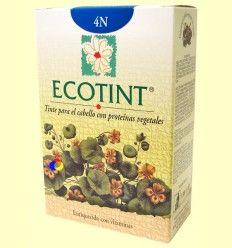 Tinte para el cabello Castaño 4N - Ecotint - 130 ml