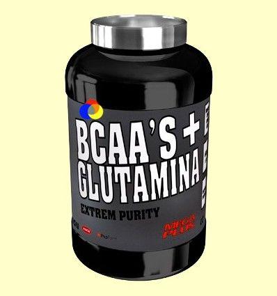 BCAAS + Glutamina Extrem Purity - Mandarina y Limón - Mega Plus - 300 gramos