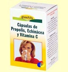 Cápsulas de Pópolis, Echinacea y Vitamina C para el Resfriado - Granovita - 75 cápsulas