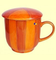 Taza para infusiones con filtro - Tonos Naranjas