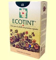 Tinte para el cabello Castaño Cobrizo 4R - Ecotint - 130 ml