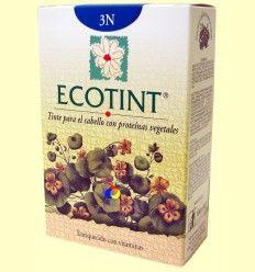 Tinte para el cabello Castaño Oscuro 3N - Ecotint - 130 ml