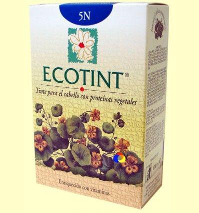 Tinte para el cabello Castaño Claro 5N - Ecotint - 130 ml