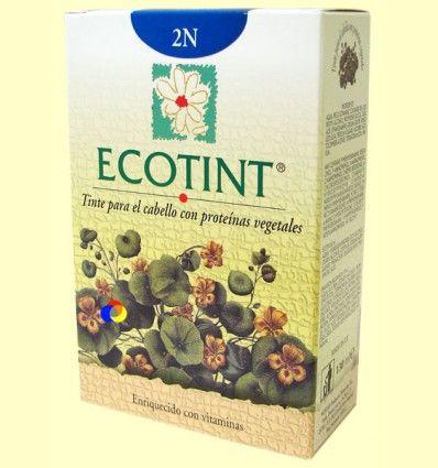 Tinte para el cabello Moreno 2N - Ecotint - 130 ml