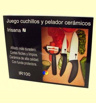 Juego de 2 cuchillos y pelador cerámicos - Grupo Irisana