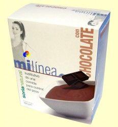 Mi línea - Sustitutivo comida sabor chocolate - Soria Natural - 6 sobres