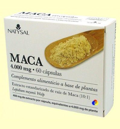 Maca 4.000 mg Extracto - Natysal - 60 cápsulas