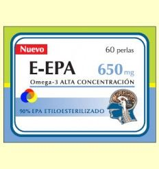 E-EPA - Omega-3 con 90% de EPA 650 mg – Dieticlar – 60 perlas *