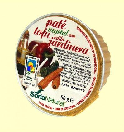 Paté Vegetal con Tofu Estilo Jardinera - Soria Natural - 50 gramos