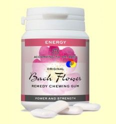 Chicles Originales Flores de Bach - Fuerza y Vigor - Lemon Pharma - 60 gramos