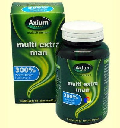 Multi Extra Man - Complejo vitamínico - Axium - 60 perlas ******