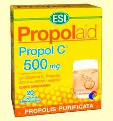 Propol C 500 mg - Propolaid - Laboratorios ESI - 20 tabletas efervescentes
