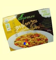 Garbanzos Ecológicos Estofados con Verduras - Soria Natural - 300 gramos