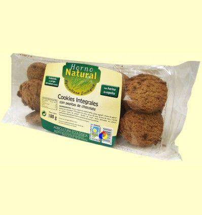 Cookies Integrales de Espelta con Pepitas de Chocolate - Horno Natural - 180 gramos