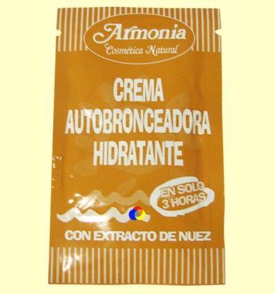 Crema Auto bronceadora Hidratante - Armonía Natural - 10 gramos