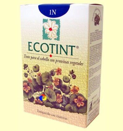 Tinte para el cabello Negro 1N - Ecotint - 130 ml