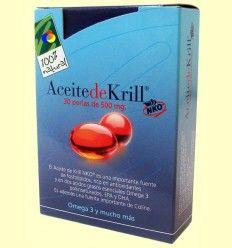 Aceite de Krill - 100% Natural - 30 cápsulas vegetales