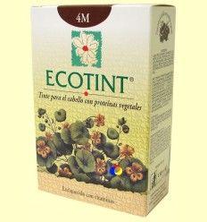 Tinte para el cabello Castaño Caoba 4M - Ecotint - 130 ml