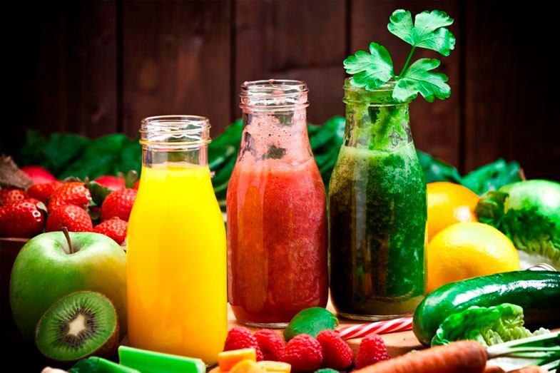 zumos frutas verduras
