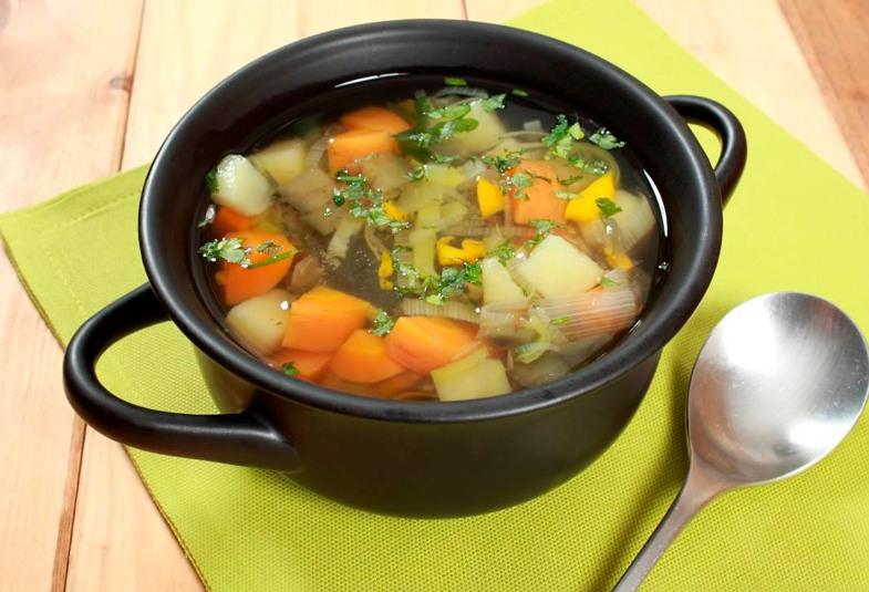 Potaje de verduras con seitán