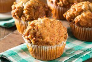 Muffins saludables caseros de plátano y avena